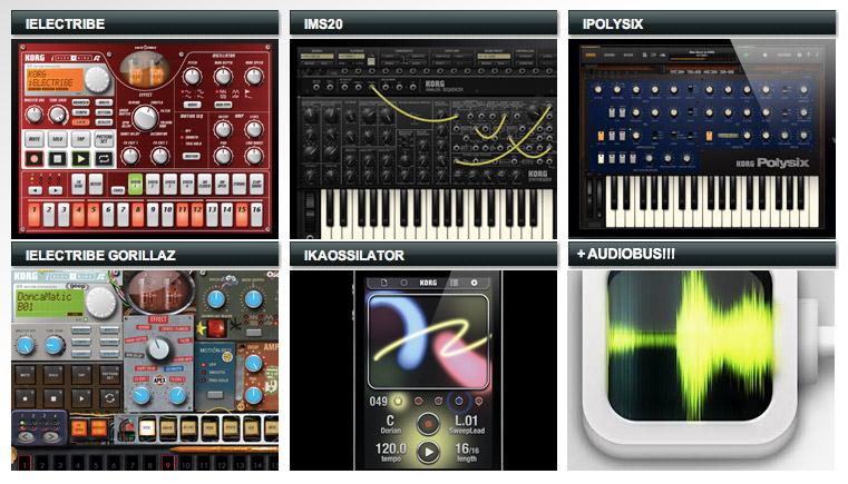 Korg, iOS, apps, iElectribe, iMS20, iPolysix, iElectribe Gorillaz Edition, iKaossilator, Audiobus
