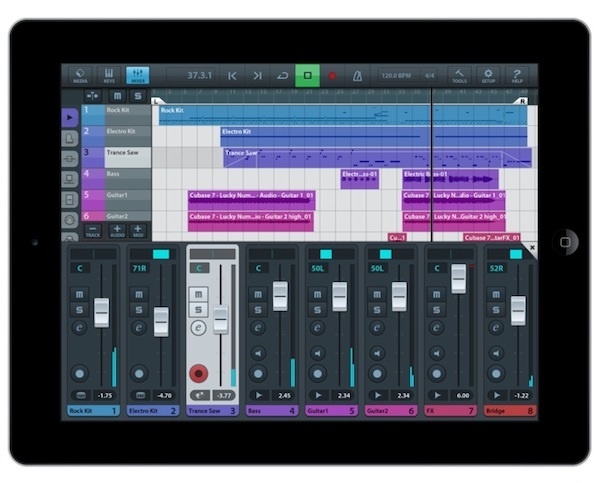 Steinberg, Cubasis, multitrack DAW for iPad