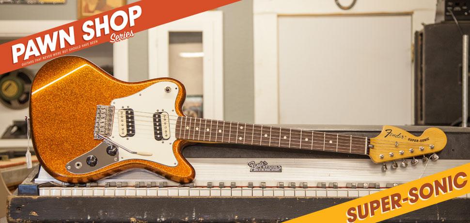 Fender Pawn Shop, Super-Sonic, reverse Jazzmaster,