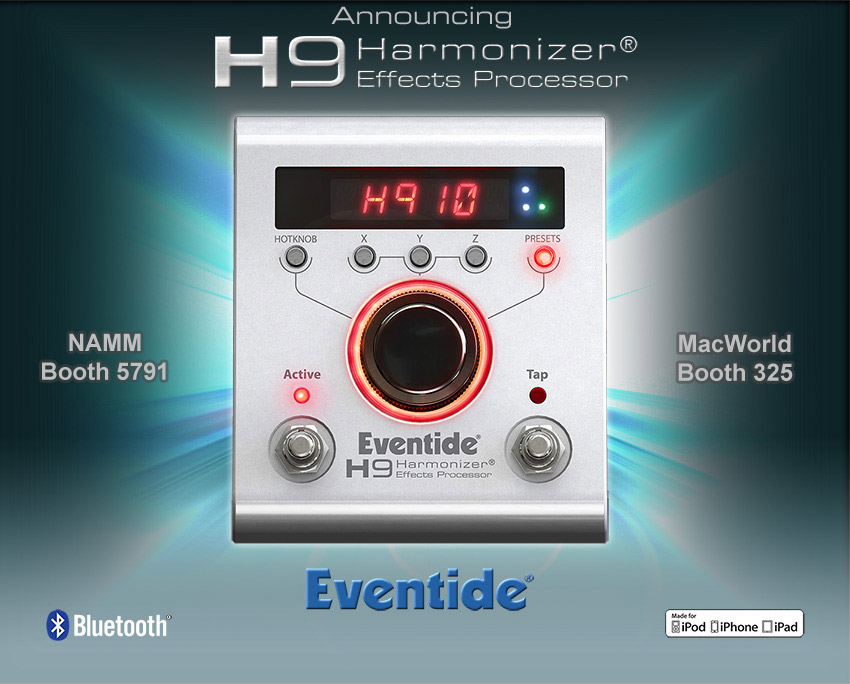 Eventide, H9 Harmonizer, Bluetooth, guitar pedal