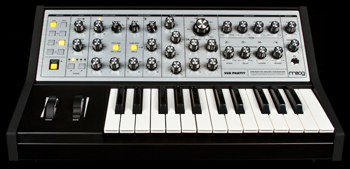 Moog, Sub Phatty, subtractive synth, analog synth, phat synth, moog synth,
