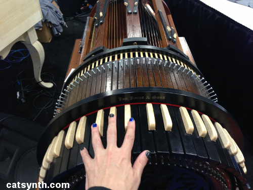 Wheelharp, Antiquity Music, baroque synth, steampunk synth, NAMM