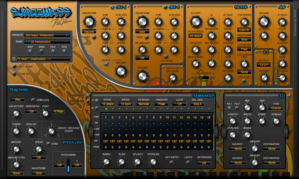 Rob Papen, Urban Synth Bundle, SubBoomBass