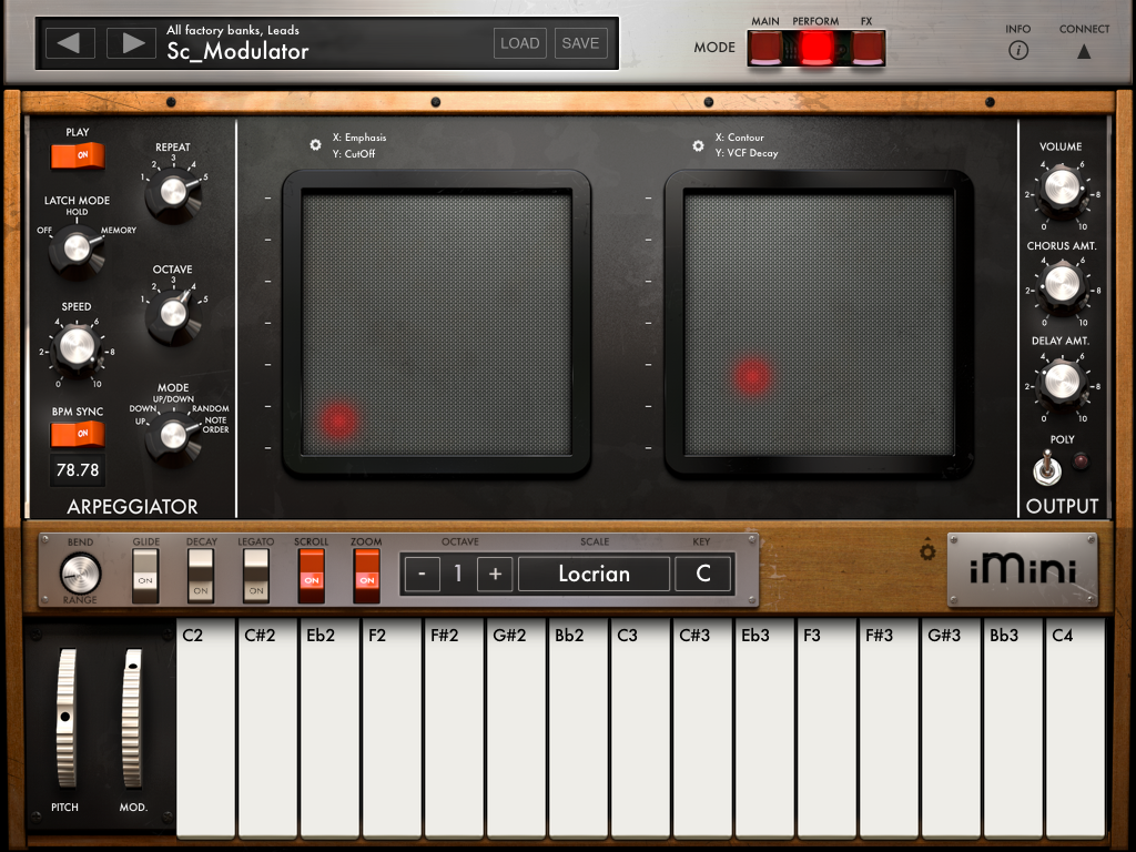 Arturia, iMini, Minimoog, iPad, synth