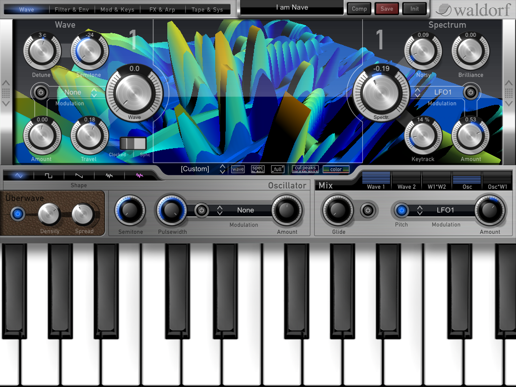 Waldorf, Nave, wavetable synth, iPad